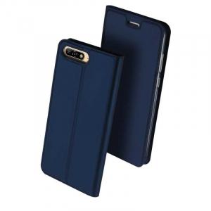 Husa Flip Huawei Y6 2018 Tip Carte Bleumarin Skin DuxDucis0