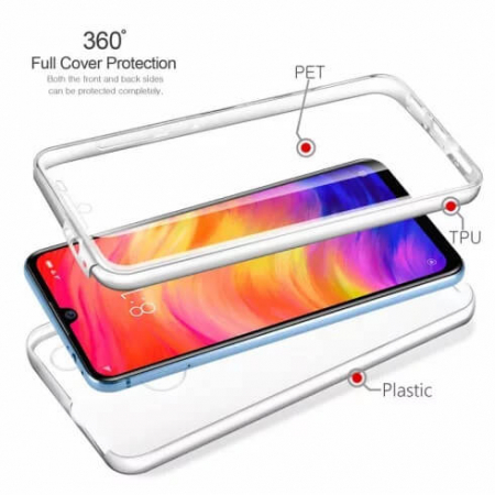 Husa Huawei Y6 2019 360 Grade Silicon Fata Spate Transparenta2
