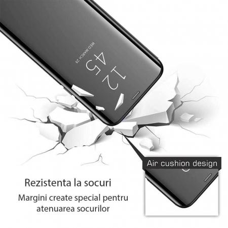 Husa Huawei Y6P 2020 Clear View Flip Standing Cover (Oglinda) Negru [1]