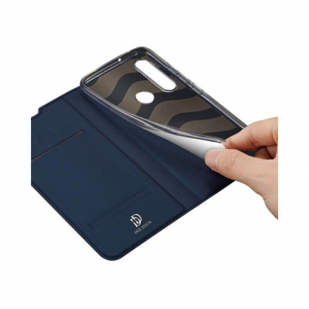 Husa Flip Huawei Y6P Tip Carte Bleumarin Skin DuxDucis2