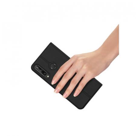 Husa Flip Huawei Y6P Tip Carte Negru Skin DuxDucis3