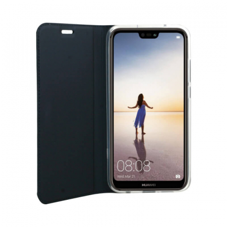 Husa Flip Huawei Y6P Tip Carte Albastru Focus1