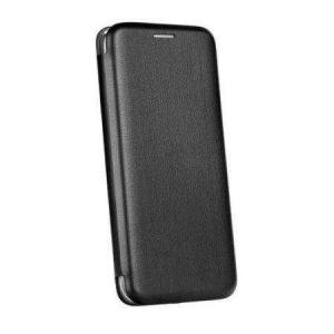 Husa Huawei Y7 2019 Negru Tip Carte / Toc Flip din Piele Ecologica Portofel cu Inchidere Magnetica0