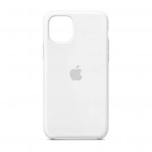 "Husa iPhone 11 2019 - 6.1 "" Alb Carcasa Silicon Premium Slim Logo0"