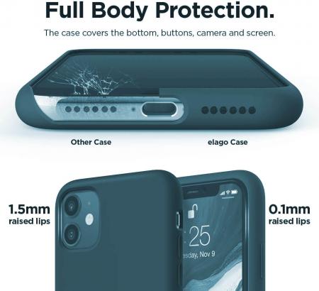 Husa iPhone 11 2019 Bleumarin Silicon Slim protectie Premium Carcasa3