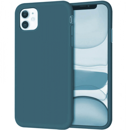 Husa iPhone 11 2019 Bleumarin Silicon Slim protectie Premium Carcasa0