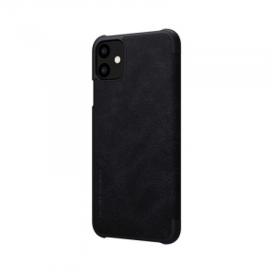Husa iPhone 11 2019 Negru Toc Flip Nillkin Qin Piele Eco Premium Tip Carte Portofel [4]