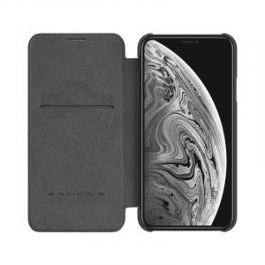 Husa iPhone 11 2019 Negru Toc Flip Nillkin Qin Piele Eco Premium Tip Carte Portofel [2]