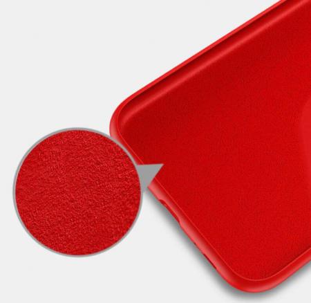 Husa iPhone 11 2019 Rosu Silicon Slim protectie Premium Carcasa2
