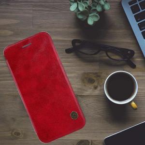Husa Flip iPhone 11 Rosu Tip Carte Magnetica Nillkin Qin4