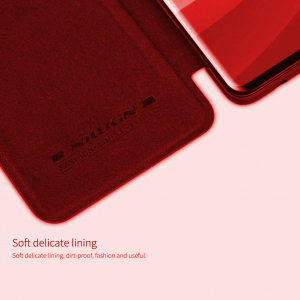 Husa Flip iPhone 11 Rosu Tip Carte Magnetica Nillkin Qin5