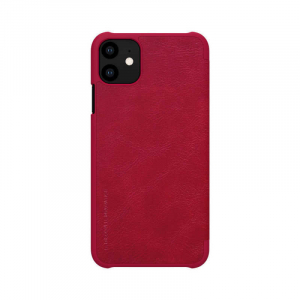 Husa Flip iPhone 11 Rosu Tip Carte Magnetica Nillkin Qin1