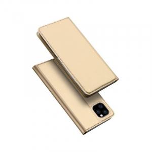 Husa Flip iPhone 11 Tip Carte Auriu Skin DuxDucis4
