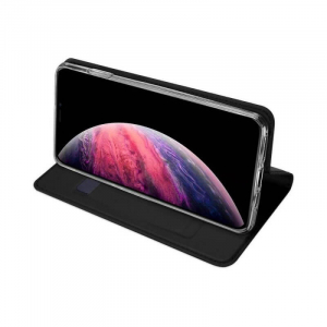 Husa iPhone 11 2019 Toc Flip Tip Carte Portofel Negru Piele Eco Premium DuxDucis [2]