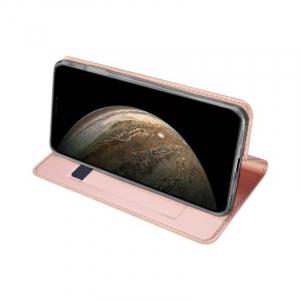 Husa Flip iPhone 11 Tip Carte Roz Skin DuxDucis2
