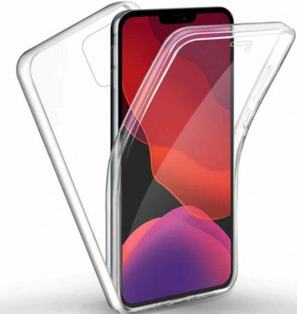 Husa iPhone 11 360 Grade Silicon Fata Spate Transparenta