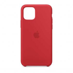 "Husa iPhone 11 Pro 2019 - 5.8 "" Rosu Carcasa Silicon Premium Slim Logo"