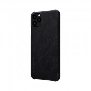 Husa iPhone 11 Pro 2019 Negru Toc Flip Nillkin Qin Piele Eco Premium Tip Carte Portofel [4]