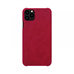 Husa iPhone 11 Pro 2019 Rosu Toc Flip Nillkin Qin Piele Eco Premium Tip Carte Portofel [1]