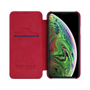 Husa iPhone 11 Pro 2019 Rosu Toc Flip Nillkin Qin Piele Eco Premium Tip Carte Portofel [2]