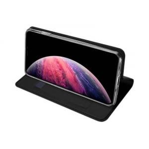 Husa Flip iPhone 11Pro Tip Carte Negru Skin DuxDucis2
