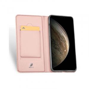 Husa iPhone 11 Pro 2019 Toc Flip Tip Carte Portofel Roz Piele Eco Premium DuxDucis [1]