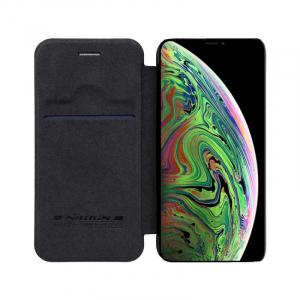 Husa Flip iPhone 11Pro Max Negru Tip Carte Magnetica Nillkin Qin3