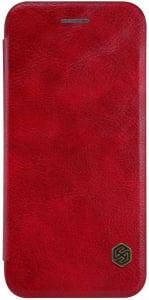 Husa iPhone 11 Pro Max 2019 Rosu Toc Flip Nillkin Qin Piele Eco Premium  Tip Carte Portofel0