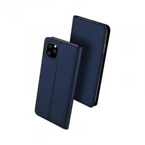 Husa iPhone 11 Pro Max 2019 Toc Flip Tip Carte Portofel Bleumarin Piele Eco Premium DuxDucis [0]