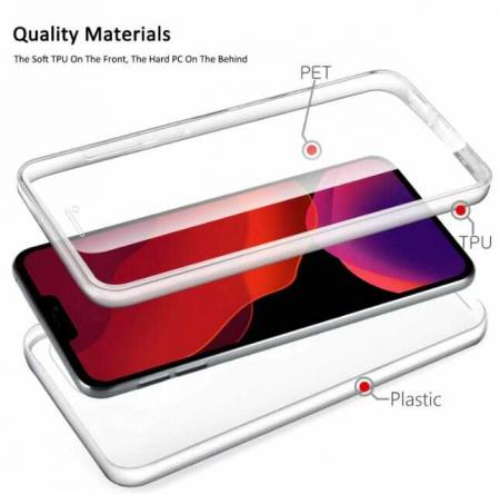 Husa iPhone 11Pro Max 360 Grade Silicon Fata Spate Transparenta1