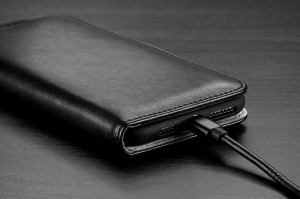 Husa Flip iPhone 11Pro Albastru Piele Ecologica Tip Carte Kado4