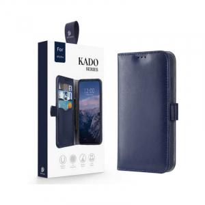 Husa Flip iPhone 11Pro Albastru Piele Ecologica Tip Carte Kado7