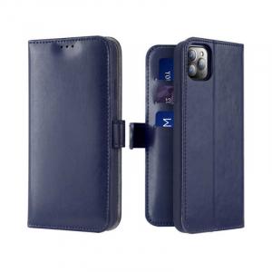 Husa Flip iPhone 11Pro Albastru Piele Ecologica Tip Carte Kado0