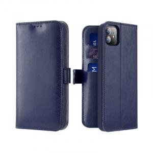 Husa Flip iPhone 11 Albastru Piele Ecologica Tip Carte Kado0