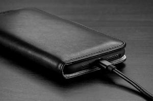 Husa Flip iPhone 11 Albastru Piele Ecologica Tip Carte Kado3