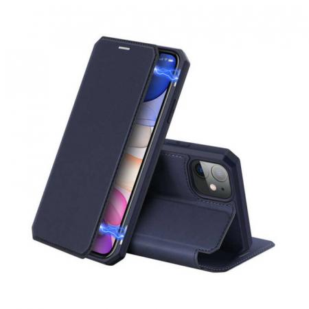 Husa iPhone 11 Toc Flip Tip Carte Portofel Bleumarin Piele Eco X-Skin [0]
