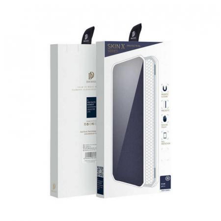 Husa iPhone 11 Toc Flip Tip Carte Portofel Bleumarin Piele Eco X-Skin [1]