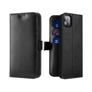 Husa iPhone 11 Toc Flip Tip Carte Portofel Negru Piele Eco Premium DuxDucis Kado [0]