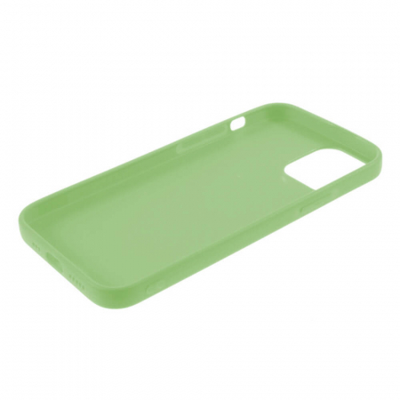 Husa iPhone 12 Mini Verde Silicon Slim protectie Carcasa3