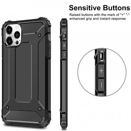 Husa iPhone 12Pro Max Silicon Antisoc Negru Hybrid Armor [1]