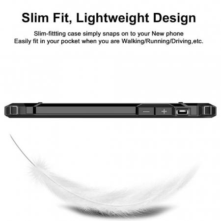 Husa iPhone 12Pro Max Silicon Antisoc Negru Hybrid Armor [7]