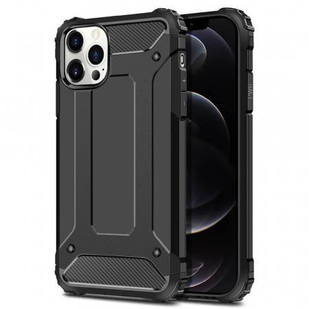 Husa iPhone 12Pro Max Silicon Antisoc Negru Hybrid Armor [0]