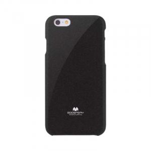 Husa iPhone 6 6S Carcasa Spate Mercury Jelly TPU Rezistent Flexibil Negru0
