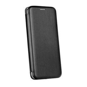 Husa iPhone 6 Plus Tip Carte Flip Cover din Piele Ecologica Neagra Portofel cu Inchidere Magnetica (Black)0