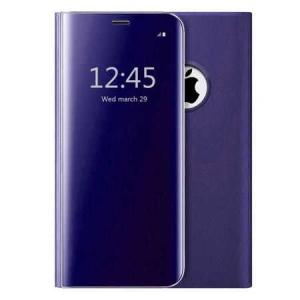 Husa iPhone 7 / 8 Clear View Flip Toc Carte Standing Cover Oglinda Mov (Purple)0