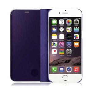 Husa iPhone 7 / 8 Clear View Flip Toc Carte Standing Cover Oglinda Mov (Purple)2