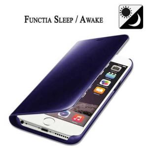 Husa iPhone 7 / 8 Clear View Flip Toc Carte Standing Cover Oglinda Mov (Purple)3