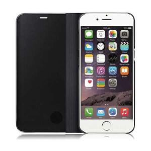Husa iPhone 7 / 8 Clear View Flip Toc Carte Standing Cover Oglinda Negru (Black)4