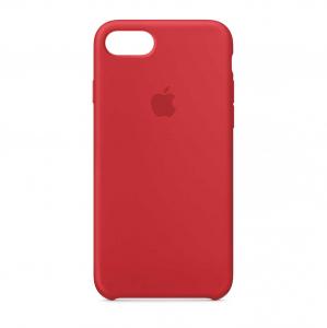 Husa iPhone 7 / 8 Rosu Carcasa Silicon Premium Slim Logo