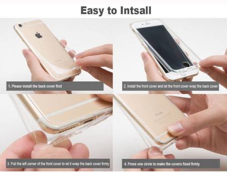 Husa iPhone 7 360 Grade Silicon Fata Spate Transparenta6